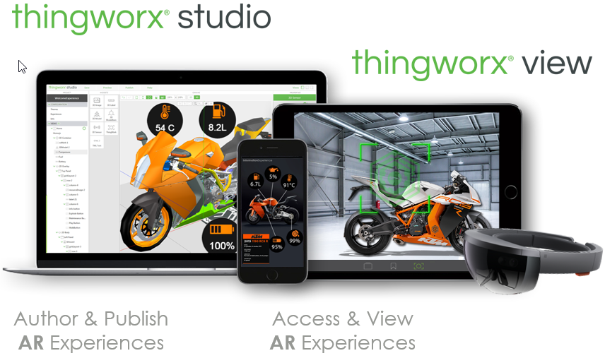 AR augmented reality thingworx studio view